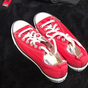 Red Converse Size 8 mens